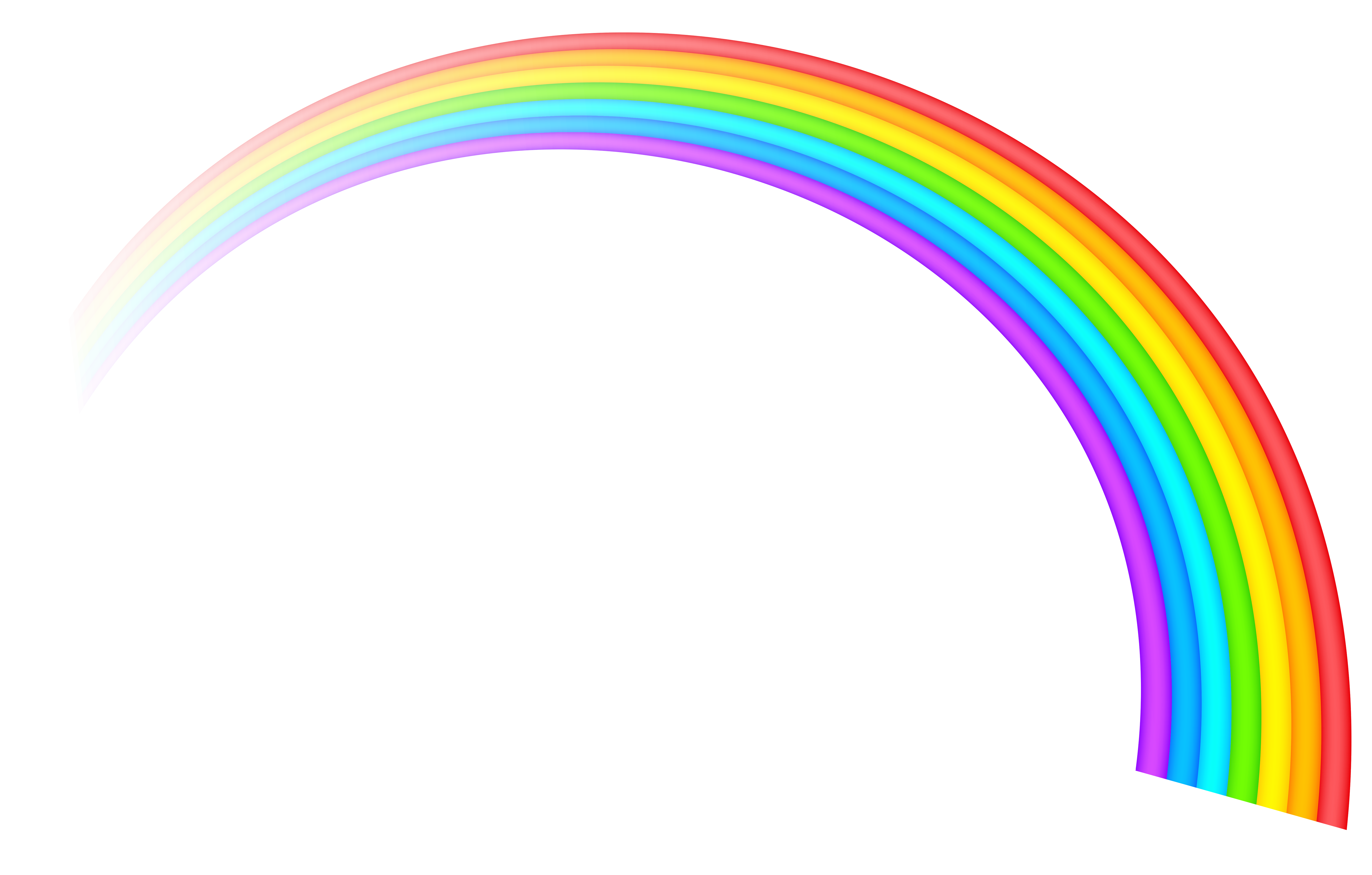 Rainbow Transparent Clipart Picture - Rainbow HD PNG