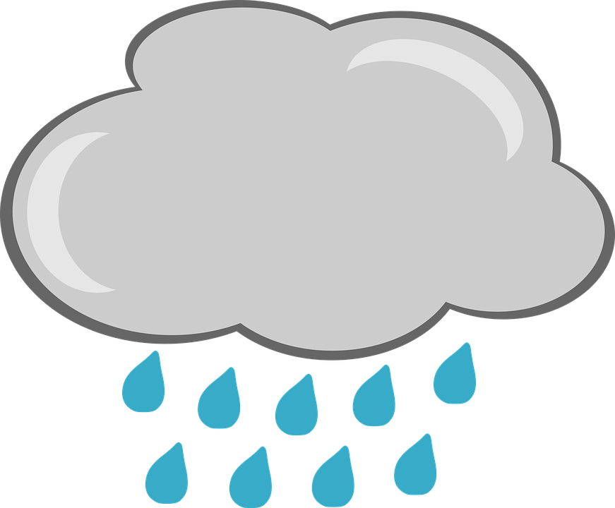 Rain, Cloud, Weather, Graphics, Figure, Cloud Cover - Raincloud PNG HD