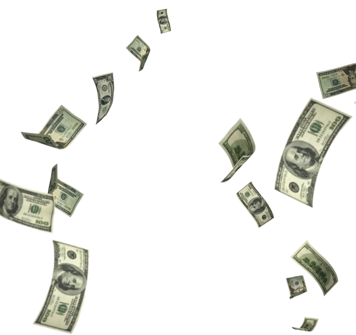 Raining Money PNG HD