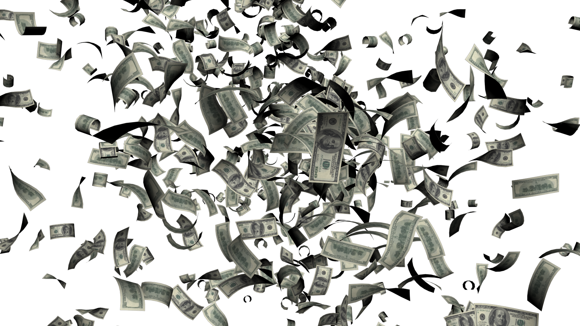 Falling money PNG - Raining Money PNG HD