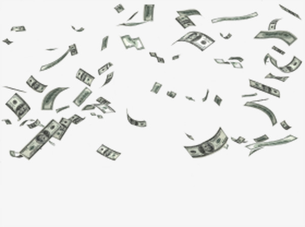 Falling money, Product Kind, Dollars Free PNG Image - Raining Money PNG HD