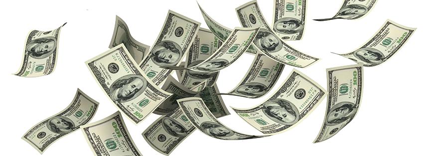 Raining Money PNG HD - 127113