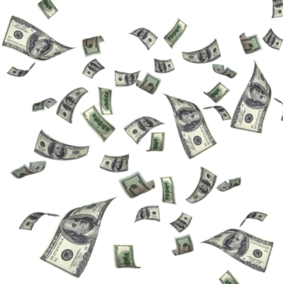 Flying Dollars Transparent PNG - Raining Money PNG HD