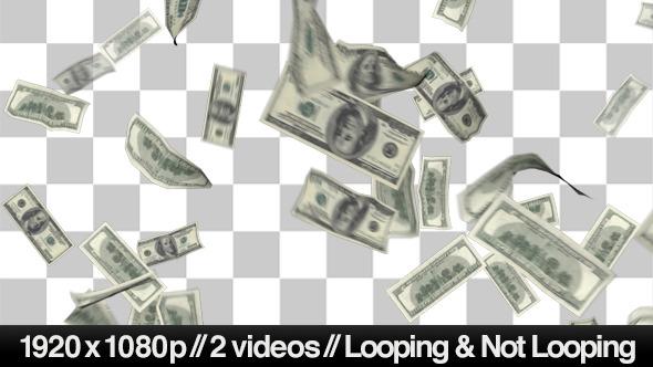 Raining Money PNG HD - 127104
