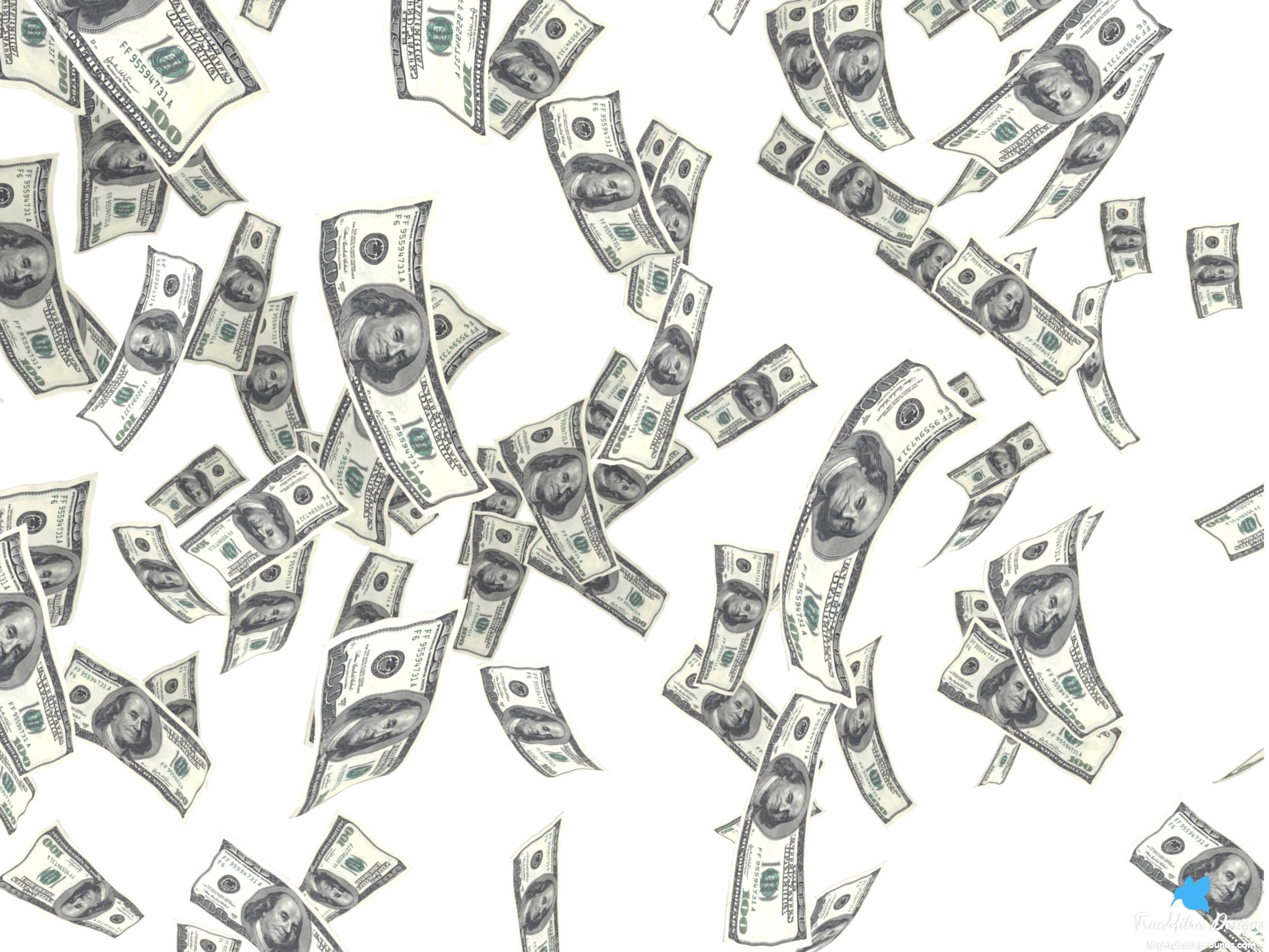 Wallpapers For u003e Money Background - Raining Money PNG HD