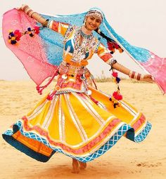 A woman from the Kalbelia tribe (also known as the Sapera, Jogira or Jogi)  in Rajasthan, India. Both men and women of the tribe perform the Kalbelia  dance, PlusPng.com  - Rajasthani Dance PNG