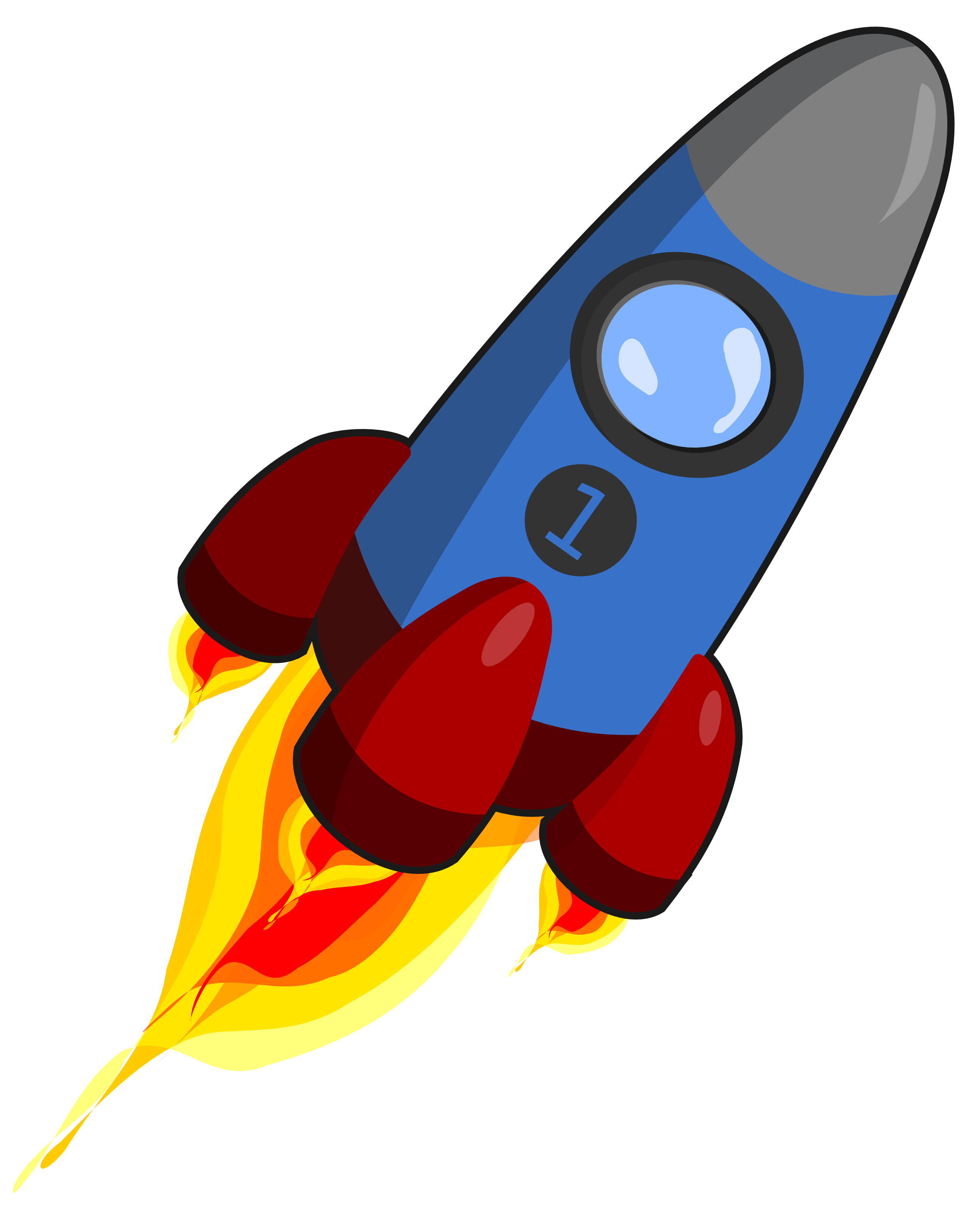 . PlusPng.com  rocket_blue_and_red_christmas_xmas_electronics_toy_coloring_book_colouring-2555px. png PlusPng.com  - Raketa PNG
