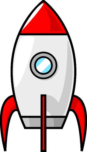 Vektorový obrázek, ilustrační klipart Raketa zdarma ke stažení, Doprava  vektor do vašich dokumentů - Raketa PNG
