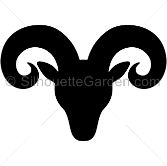 Ram head silhouette clip art. Download free versions of the image in EPS,  JPG - Ram Head PNG