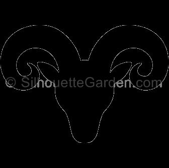 Ram head silhouette clip art. Download free versions of the image in EPS,  JPG - Ram Head PNG