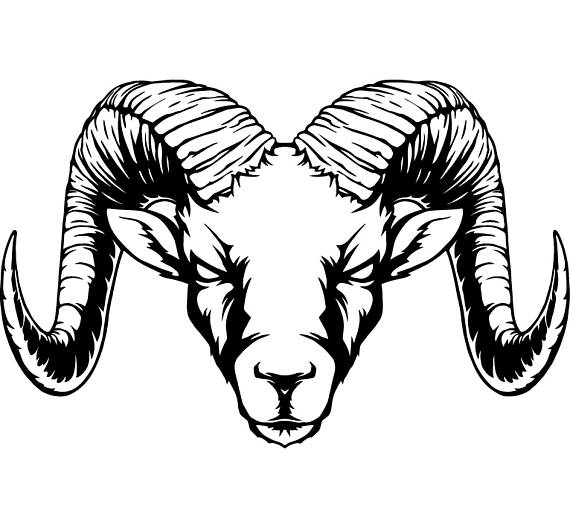 Ram Horns Sheep Zoo Wild Animal Mascot .SVG .EPS .PNG Instant Digital  Clipart Vector Cricut Cut Cutting Download Printable Scrapbook File - Ram Head PNG