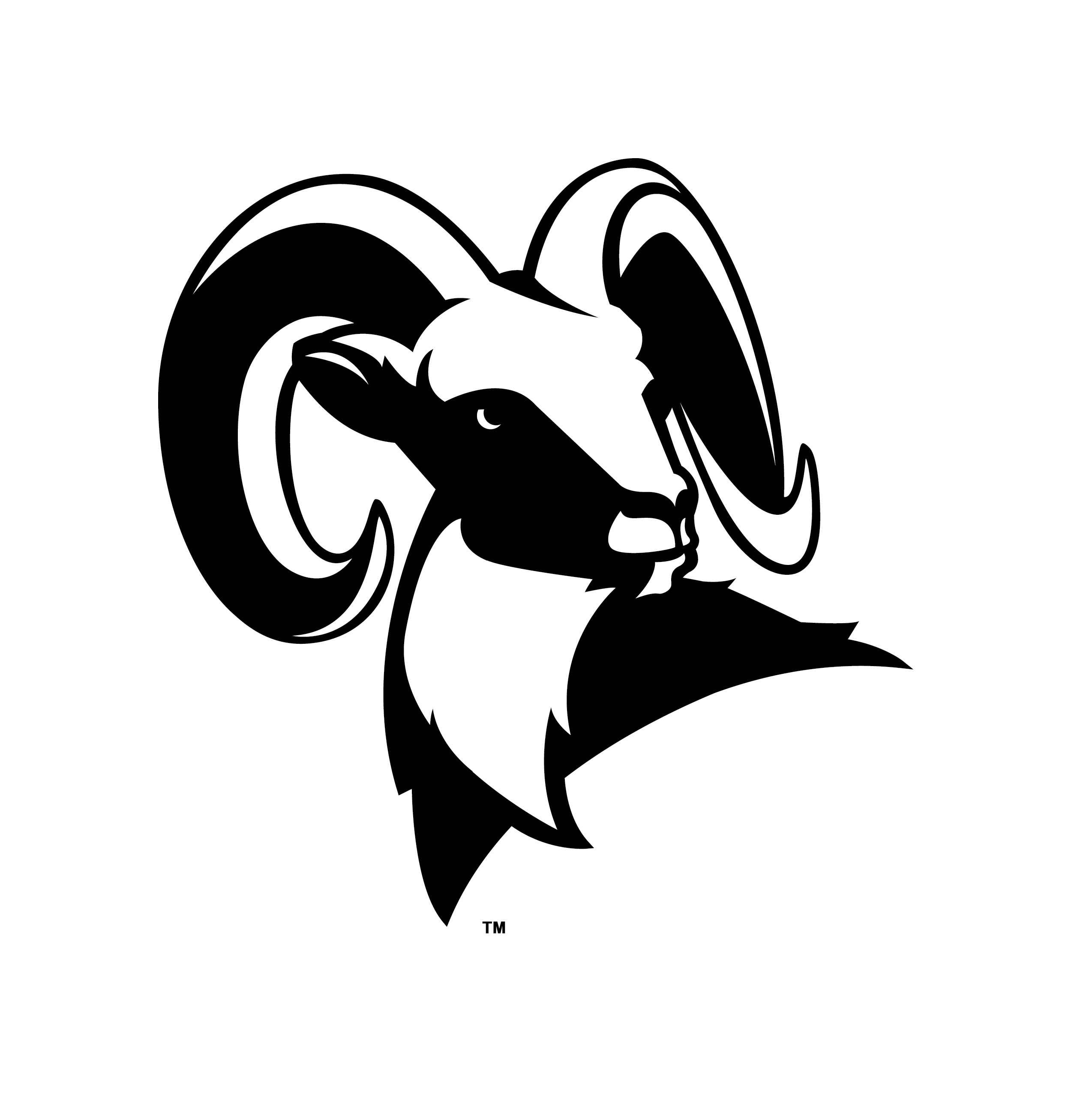Spirit Symbols | Highland High School | Salt Lake City School District - Ram Head PNG