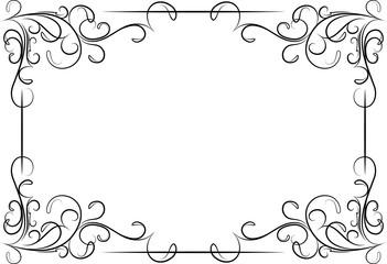 Ilustracja wektora Niezwykłe, ozdobne koronki ornament, Vintage ramki z  pustym miejscem dla tekstu. Ilustracja wektora - Ramki Ozdobne Do Tekstu PNG