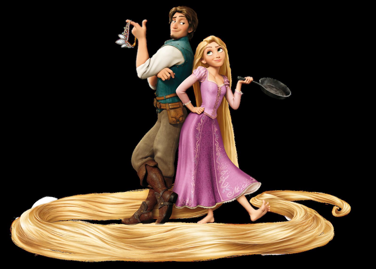 Flynn And Rapunzel.png - Rapunzel PNG