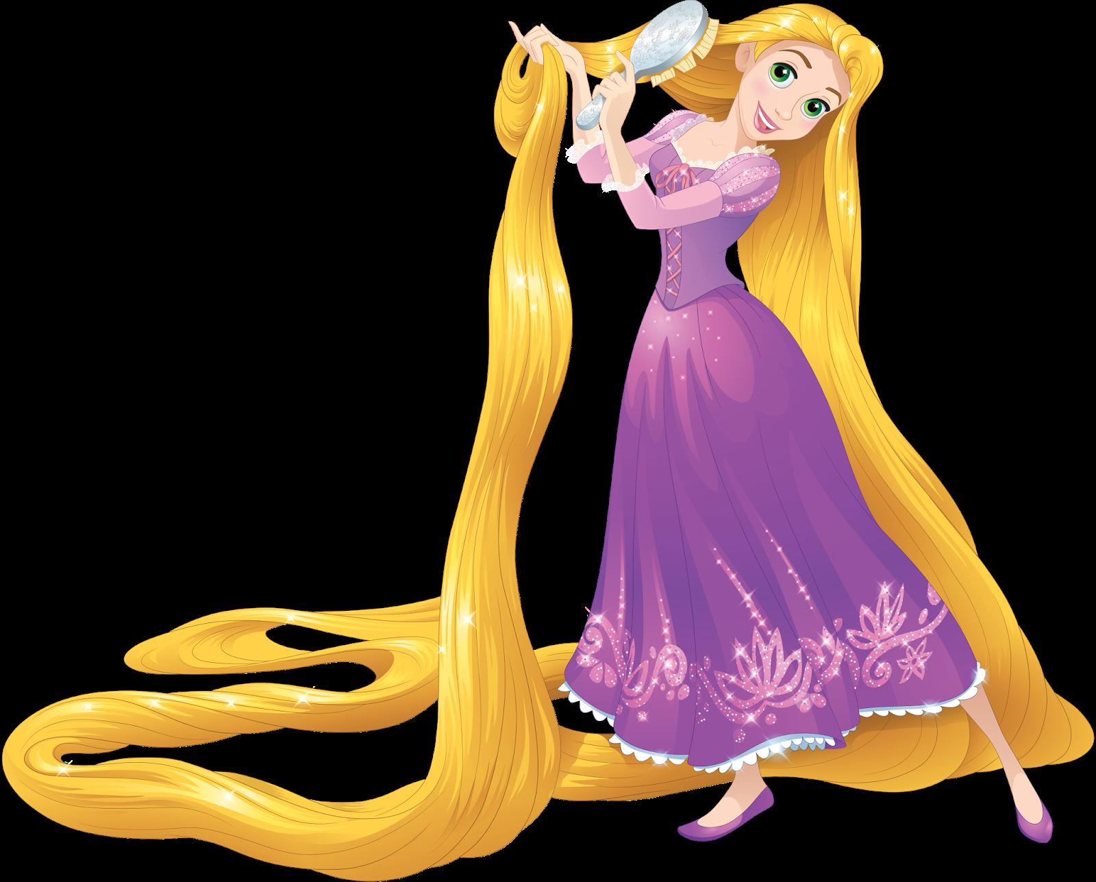 Rapunzel Brushing her Hair.png - Rapunzel PNG