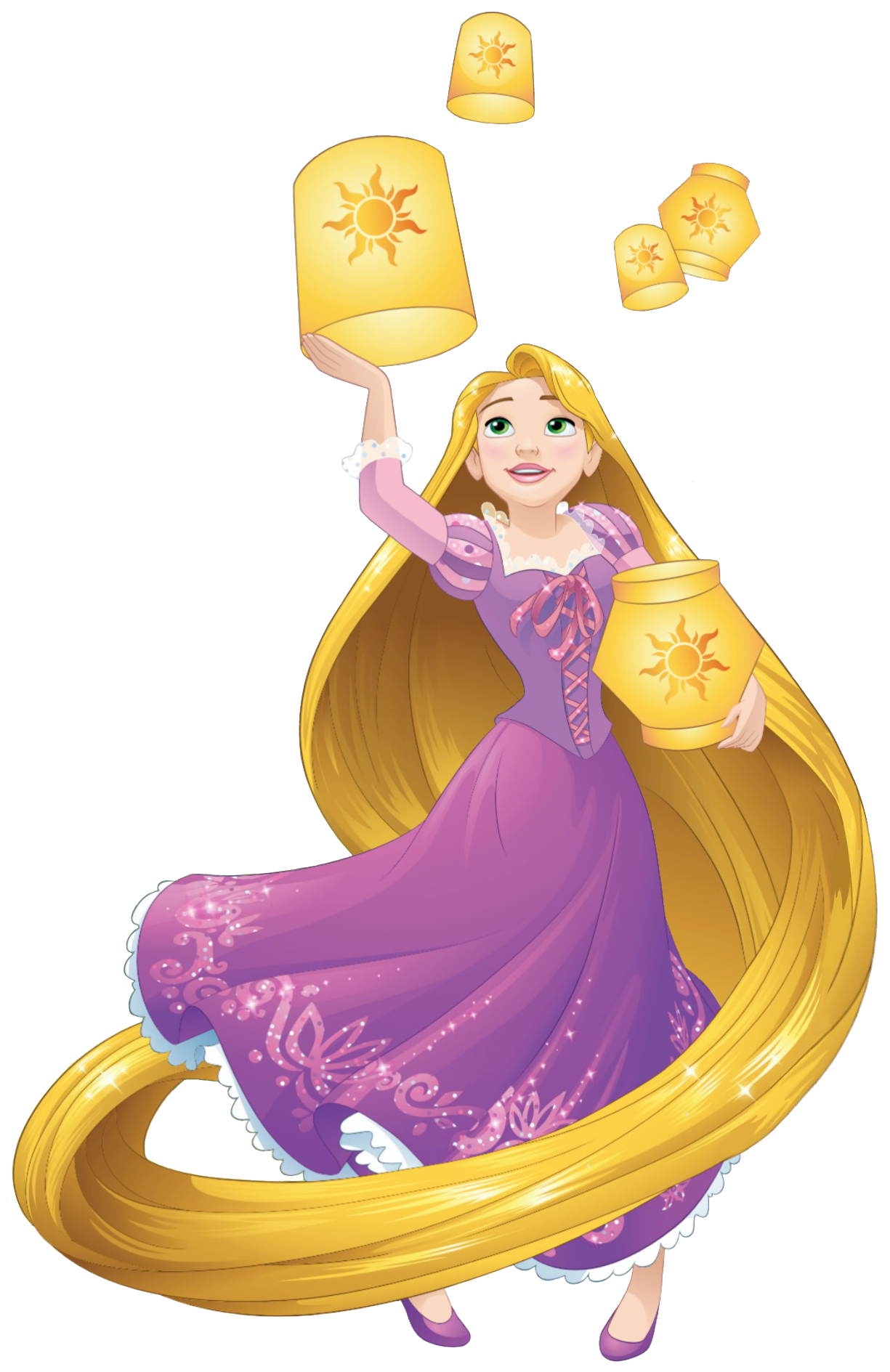 Rapunzel With Lanterns Png image #43441 - Rapunzel PNG