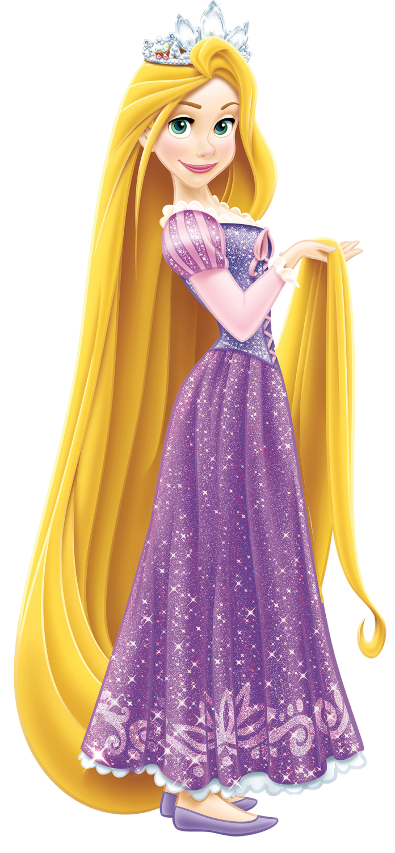 Rapunzel with tiara.png - Rapunzel PNG