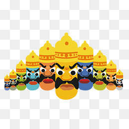 Vector Rowe, Rowe, Ravan, When The King Of The Rakshasas PNG and Vector - Ravan PNG