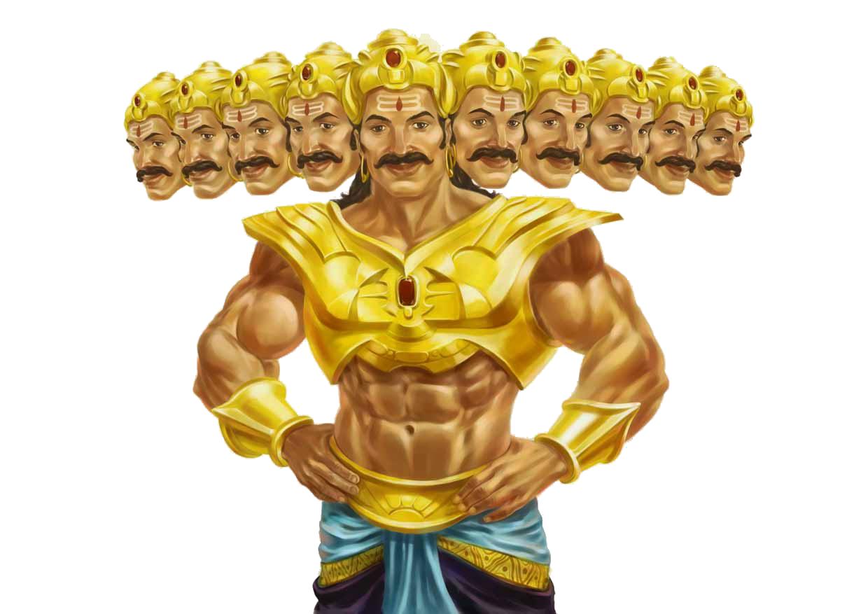 Ravana: big mustache and flow
