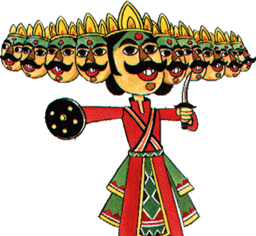 Ravana: big mustache and flow