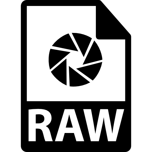 RAW file format symbol free icon - Raw PNG