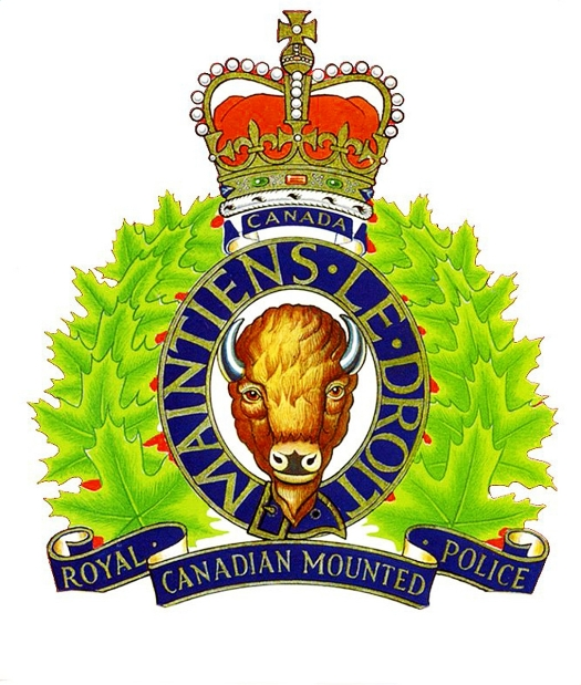 RCMP LOGO - ROYAL CANADIAN MOUNTED POLICE CREST. MAINTIENS LE DROIT. (Files  / Calgary Herald) [PNG Merlin Archive]
