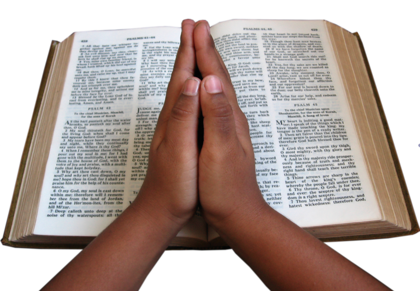 Reading the bible with your head in your ass