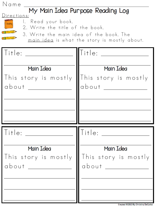 Reading Logs for the Common Core (with freebie!) - Reading Log PNG