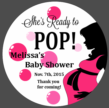 Custom Sheu0027s Ready to POP - Baby Shower Decals - Ready To Pop PNG