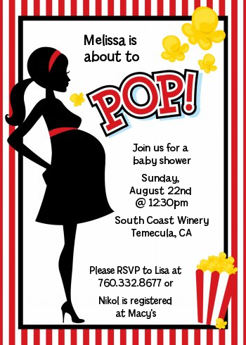 Ready To Pop - Baby Shower Invitations - Ready To Pop PNG