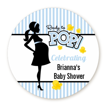 Ready To Pop Blue - Personalized Baby Shower Table Confetti - Ready To Pop PNG
