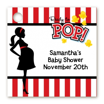 Ready To Pop - Personalized Baby Shower Card Stock Favor Tags Option 1 - Ready To Pop PNG
