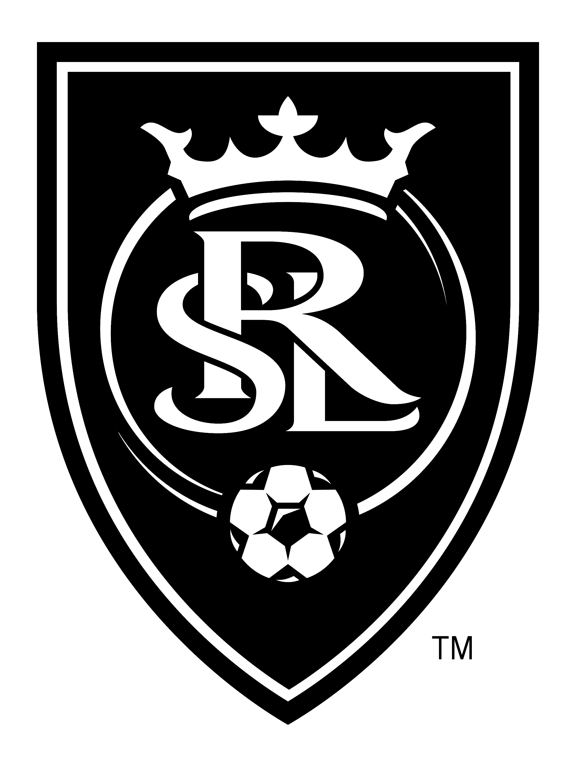 Real Salt Lake logo black and white black and white - Real Salt Lake Logo Vector PNG