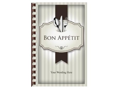 Bon Appétit - Recipe Book Cover PNG