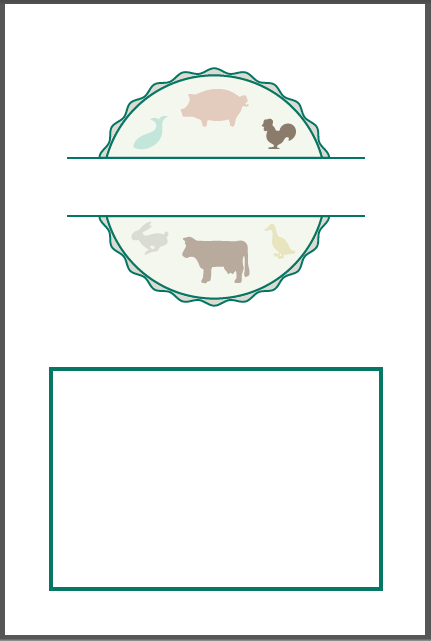 Classic Cover Classic Section Divider - Recipe Book Cover PNG