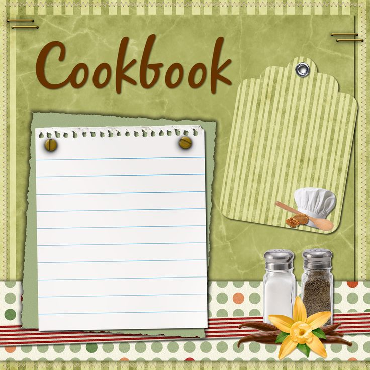 Design A Cookbook Cover For Free : Recipe book cover png transparent