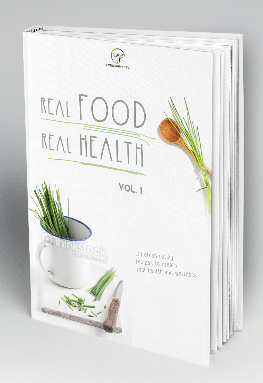 Real Food Real Health Cover By Ioana Aka Fii Design. - Recipe Book Cover PNG