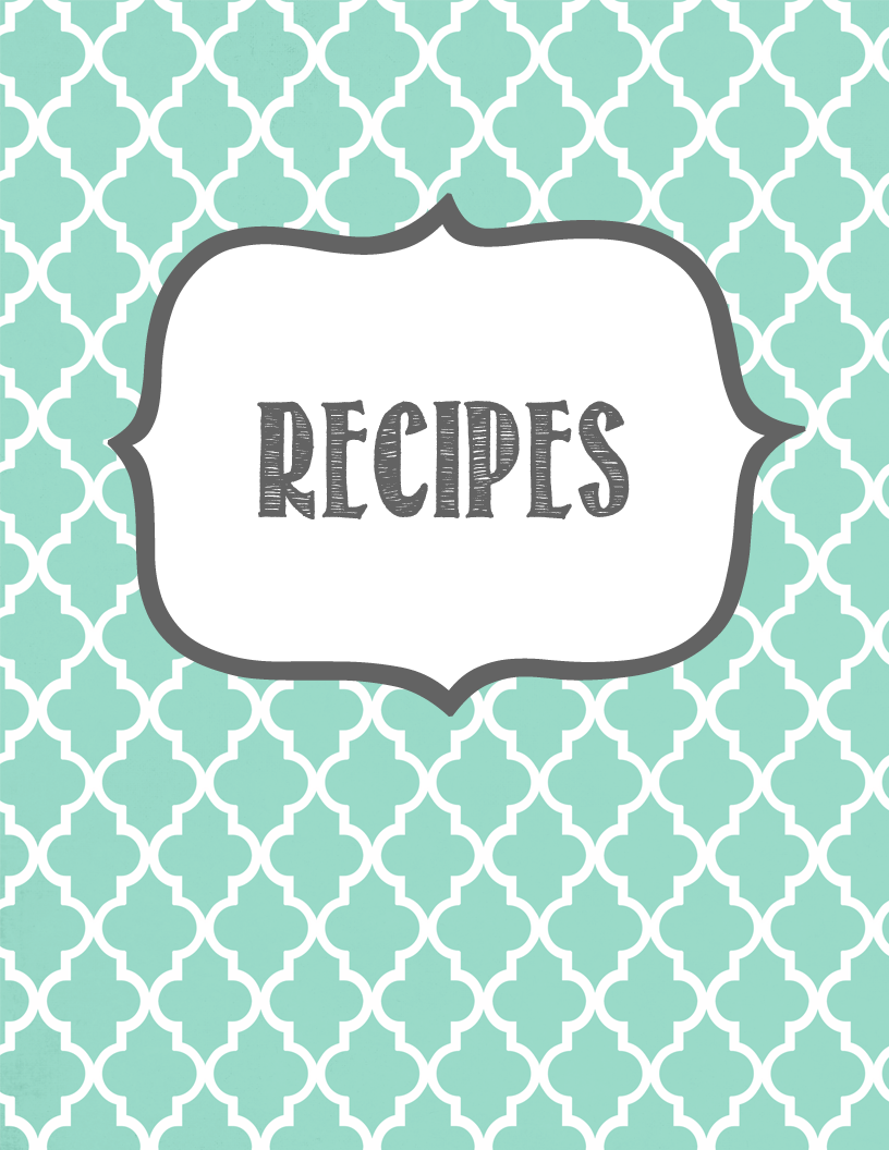 Recipe Scrapbook - Recipe Book Cover PNG
