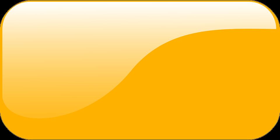 rectangular button gui orange glossy shiny glassy - Rectangular PNG