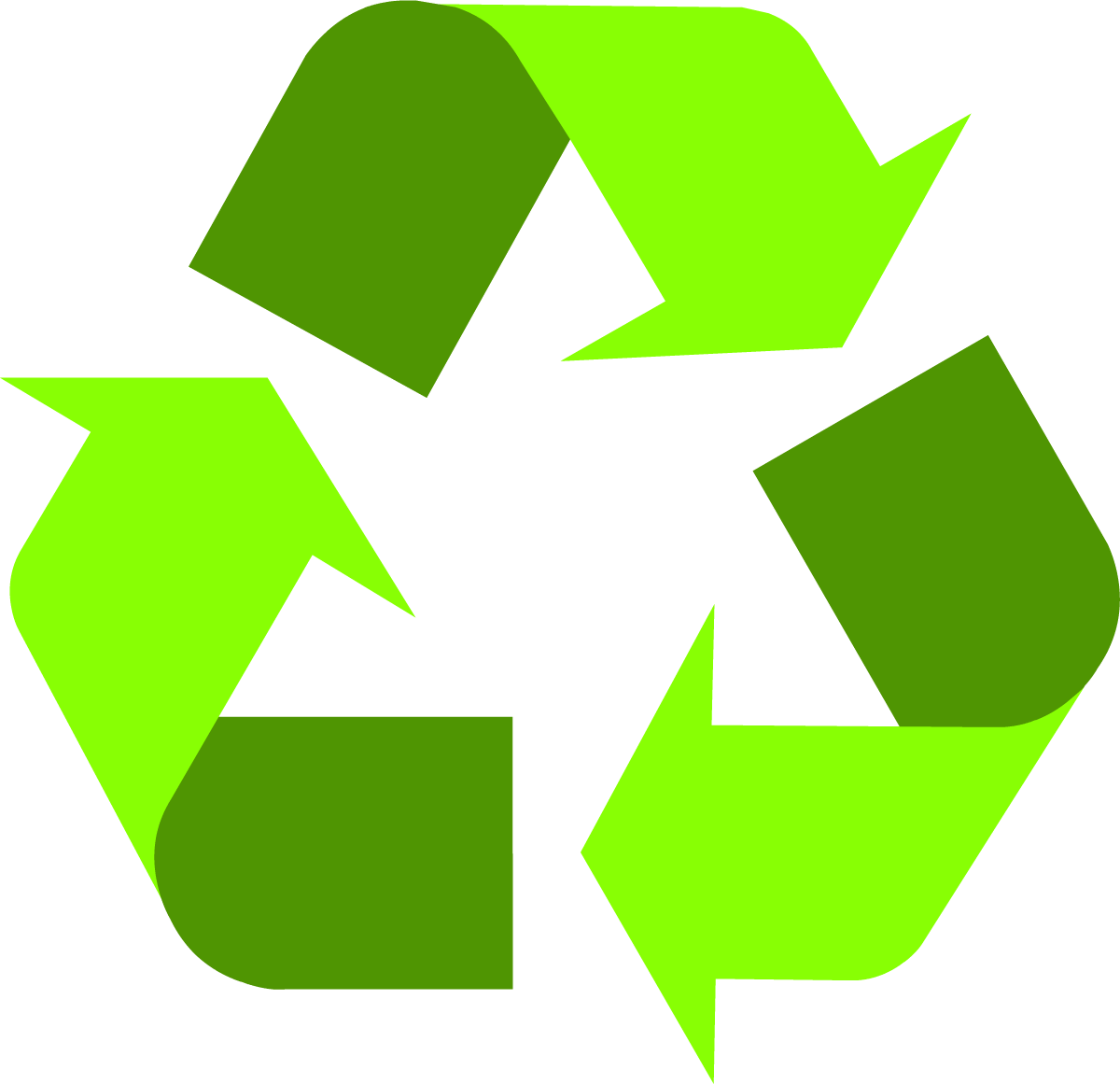 Light Green Recycling Symbol - Recycle PNG