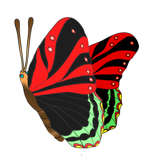 colorful butterflies clipart · black red butterfly image - Red And Black Butterfly PNG