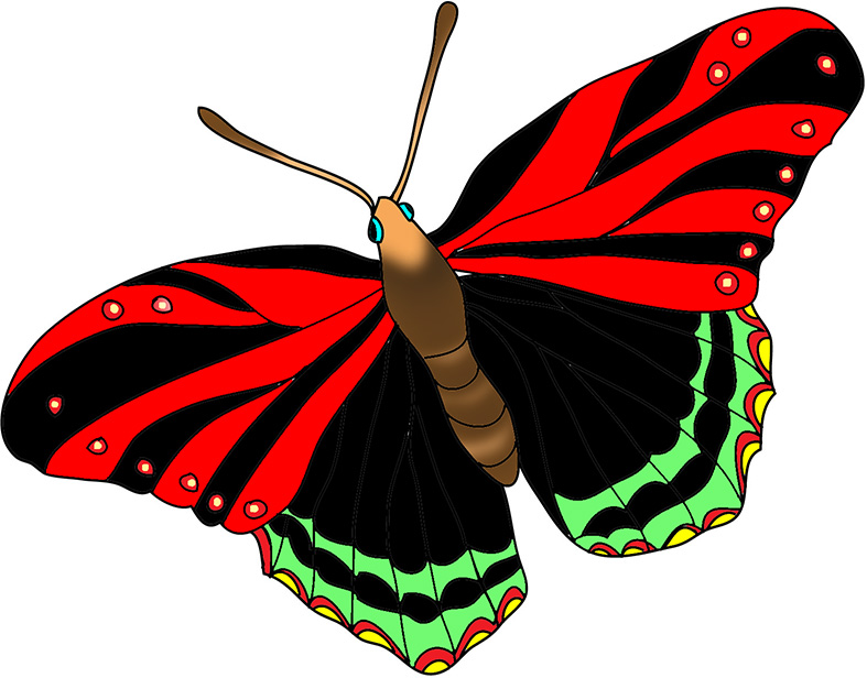 Pink butterfly clipart · black-red-butterfly-image - Red And Black Butterfly PNG
