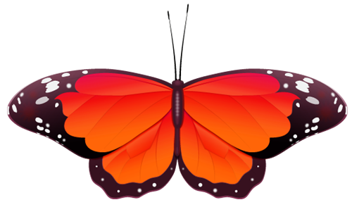 red butterfly clip art - Red And Black Butterfly PNG