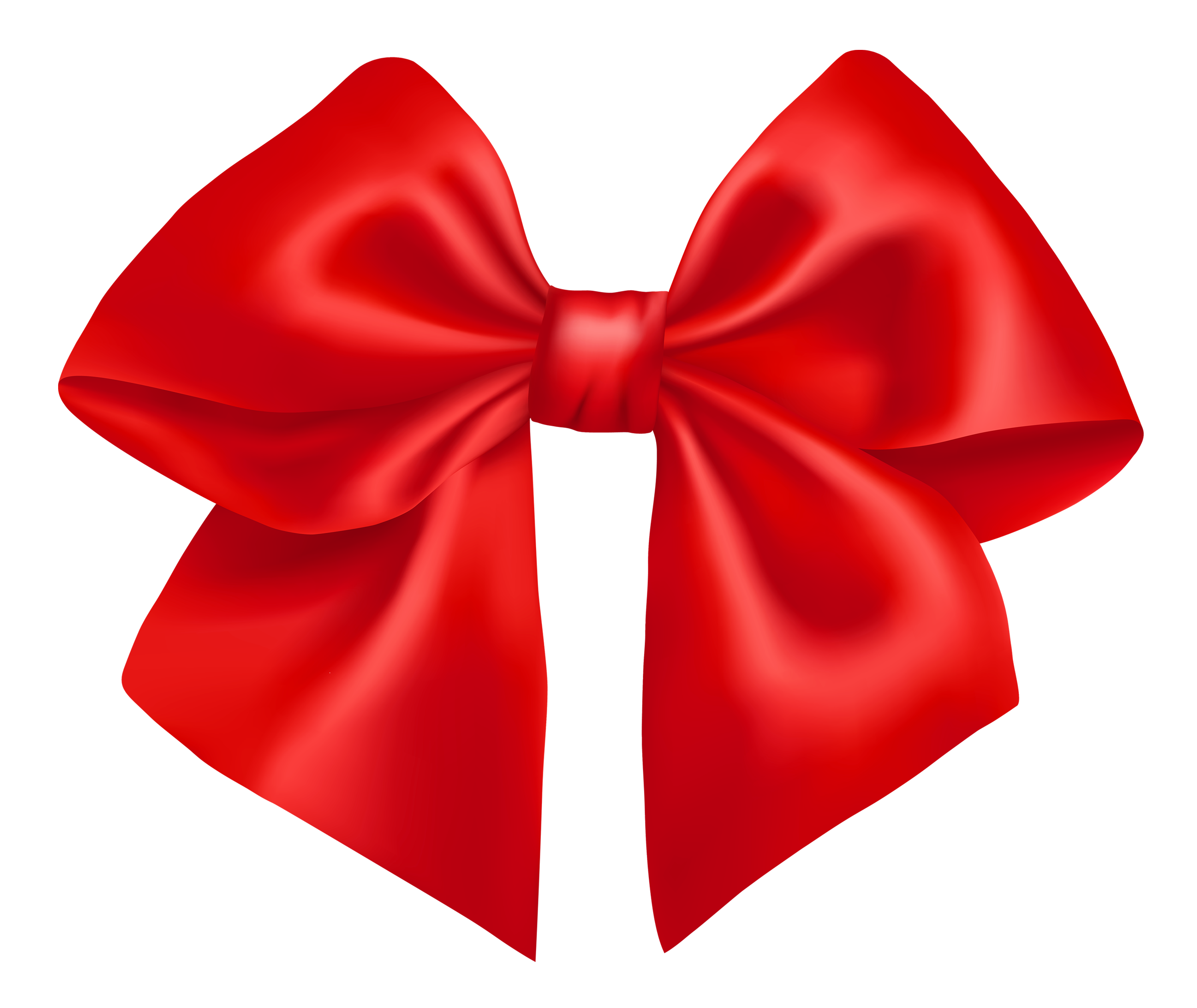 Red Christmas Bow PNG HD-PlusPNG.com-2472 - Red Christmas Bow PNG HD