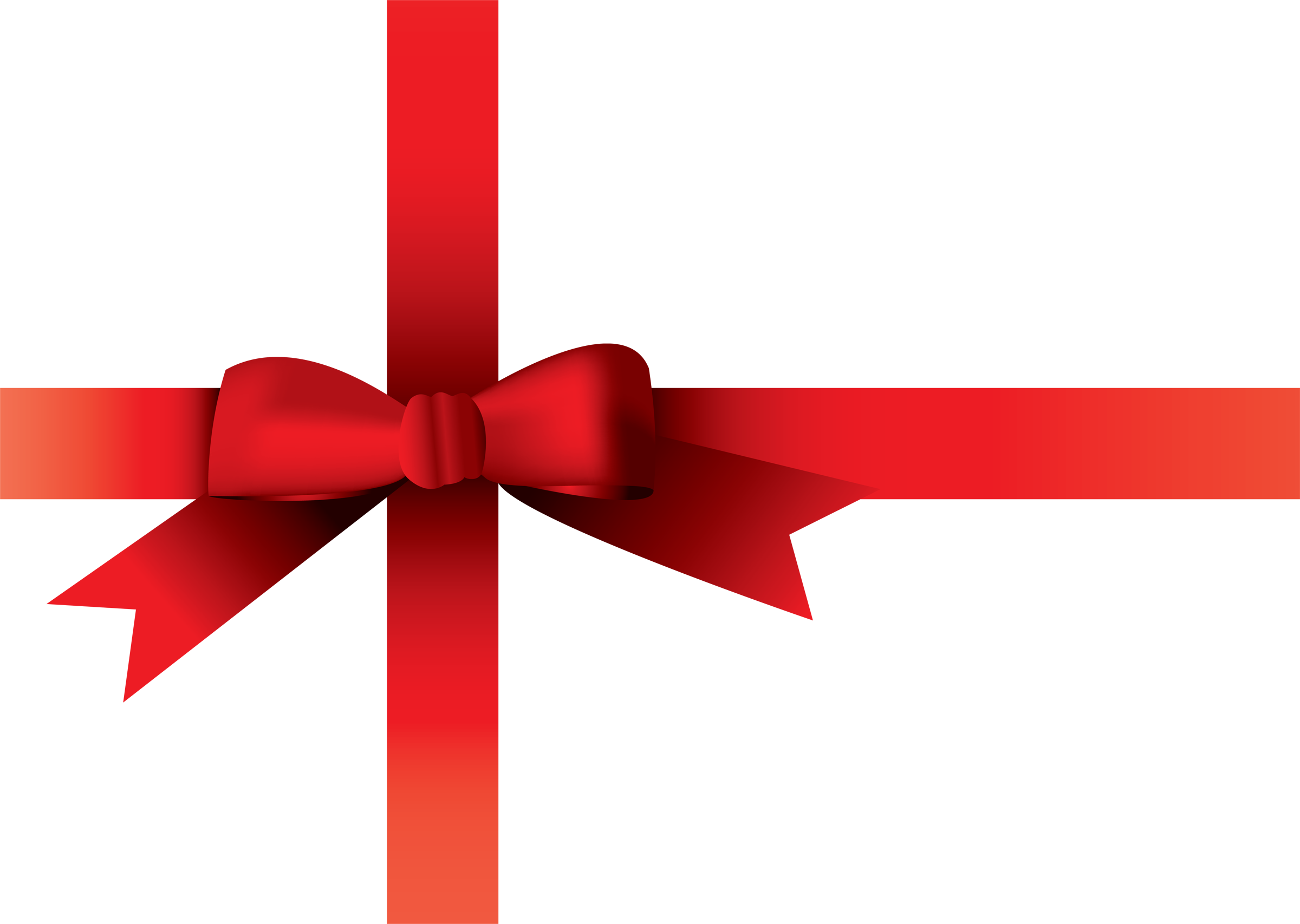 Christmas Bow Transparent Background - Red Christmas Bow PNG HD