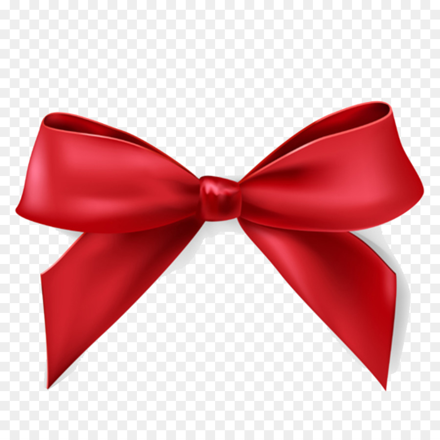 Christmas Gift Ribbon Clip art - Satin PNG HD - Red Christmas Bow PNG HD