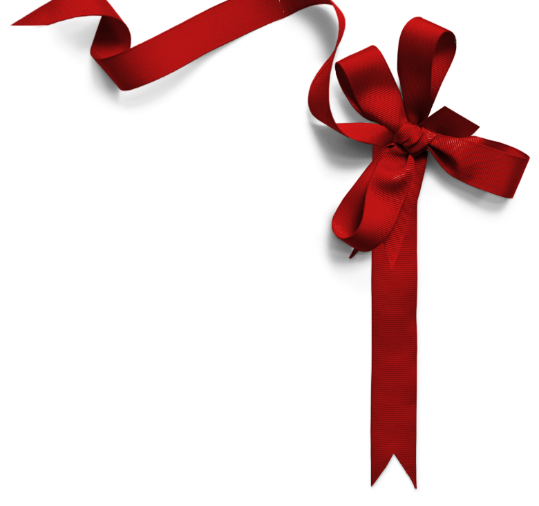 Gift Ribbon PNG Clipart - Red Christmas Bow PNG HD