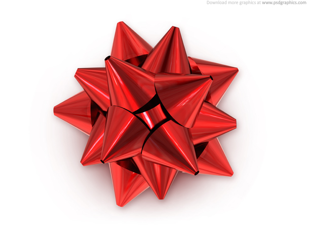 red bow - Red Christmas Bow PNG HD