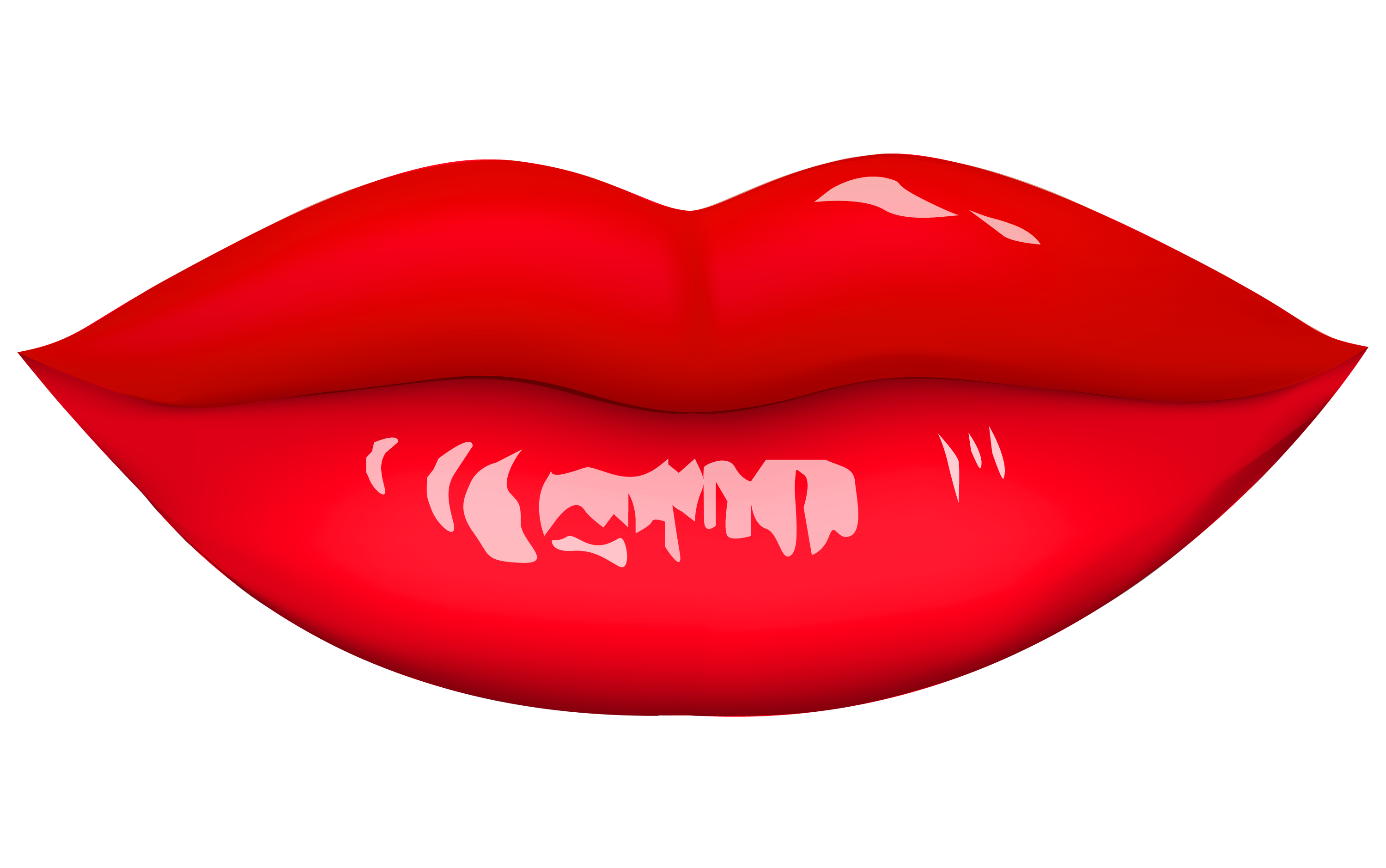 Red Lip PNG-PlusPNG.com-3000 - Red Lip PNG