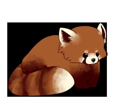 Red panda sorta chibi by pyxelle art-d5o4knl.png - Red Panda PNG